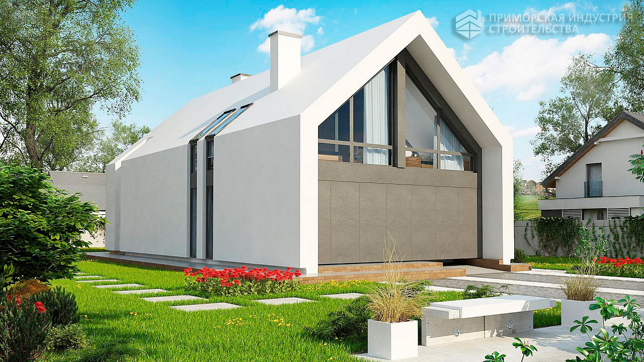 Современный дом ангарного типа ANGAR-003
