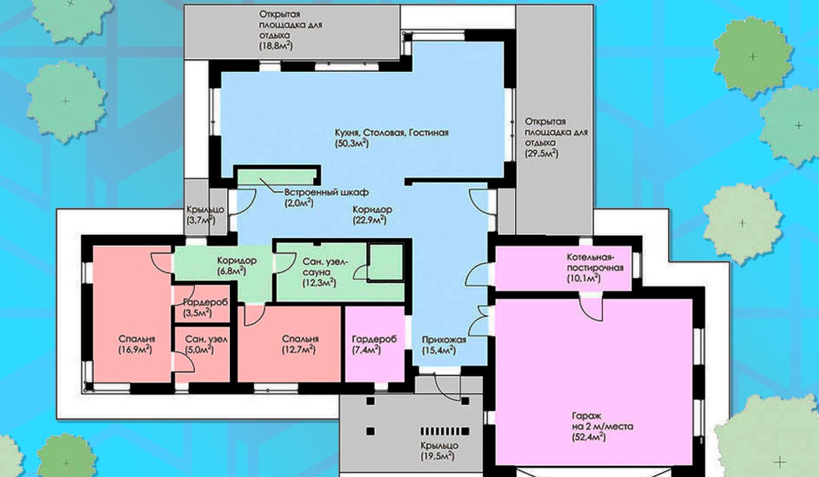 Планировка дома BR-502