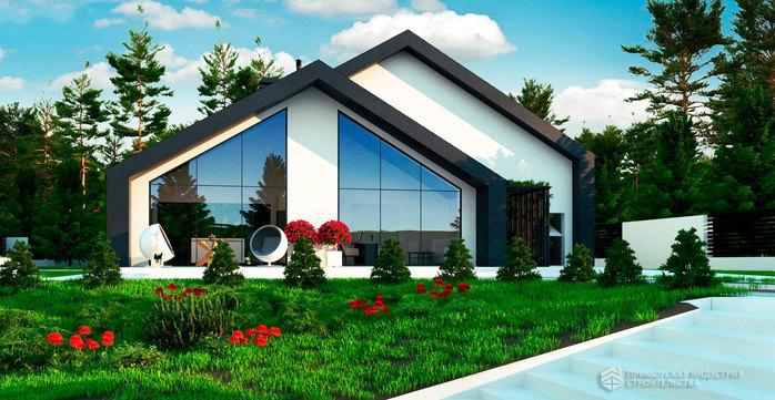 Современный проект дома ангарного типа