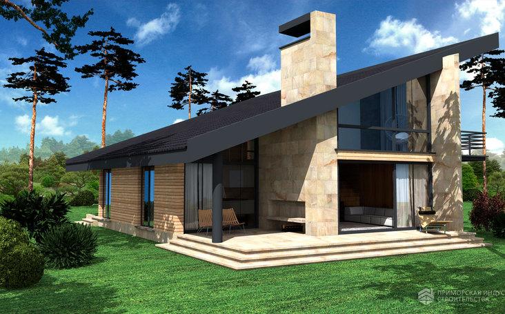 Проект современного дома ANGAR-006
