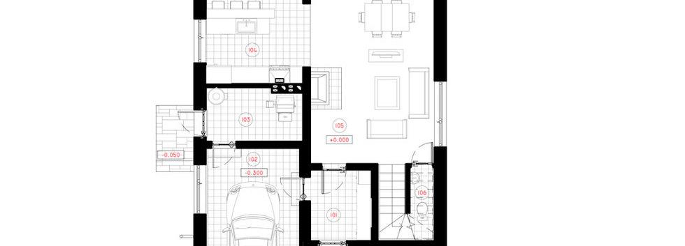 Планировка второго этажа дома S-003