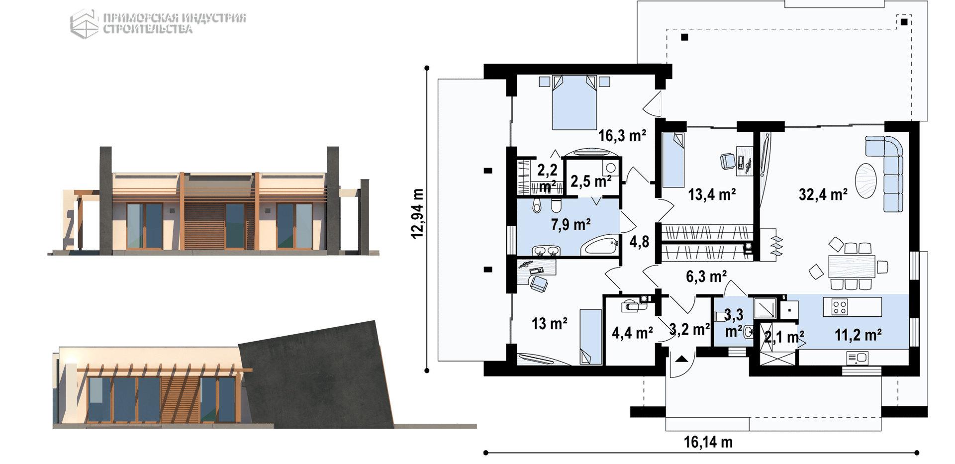 Планировка дома HAUS-0-09