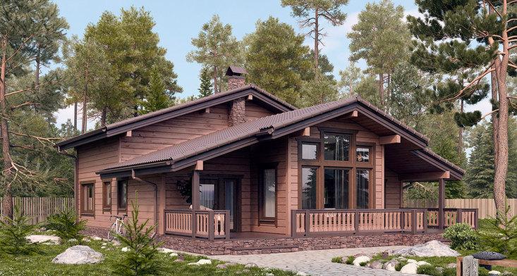 Проект современного дома BRUS-921