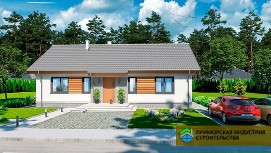 Проект одноэтажного дома H-003