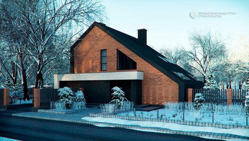 Проект современного дома ANGAR-009
