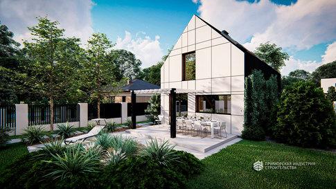 Проект двухэтажного дома W-001