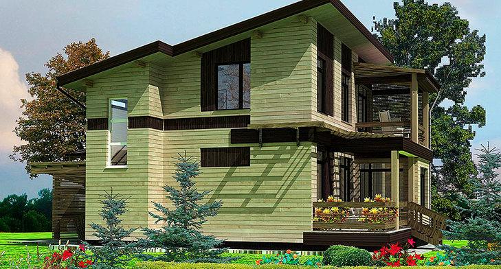 Проект деревянного дома BRUS-248