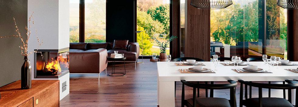 Интерьер современного дома ANGAR-014