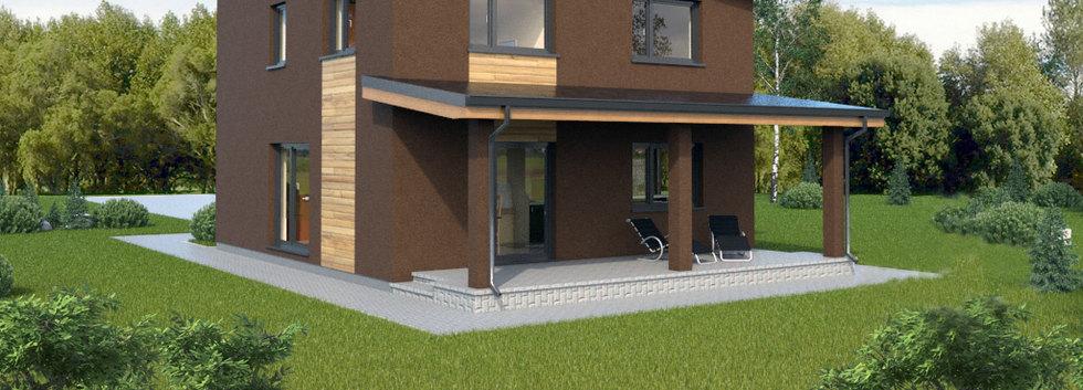 Проект двухэтажного дома S-003