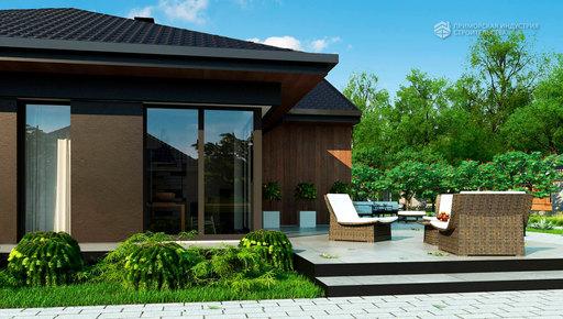 Проект современного дома SHALE-003