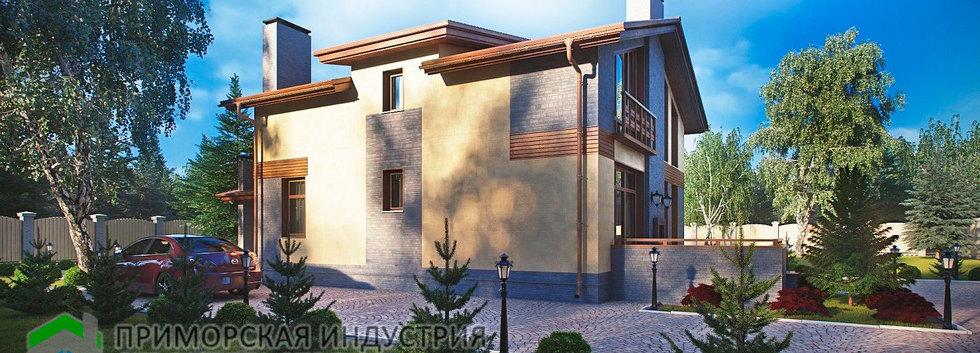 Проект двухэтажного дома А-004