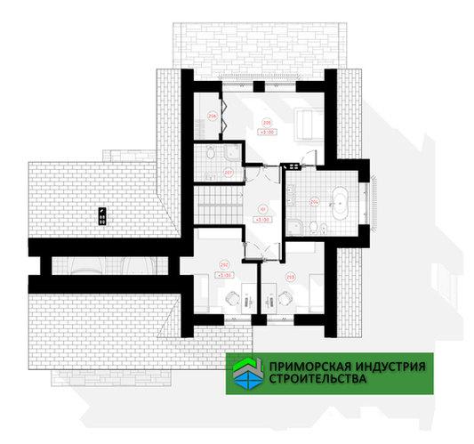 Планировка мансарды дома G-004