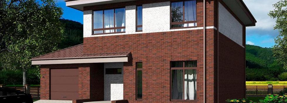Проект двухэтажного дома B-004