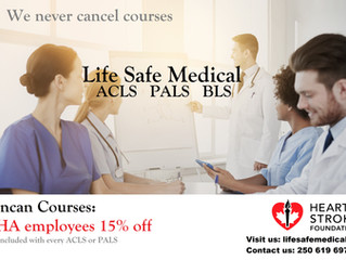 DUNCAN BC: No more travelling for ACLS, PALS, BLS!