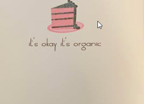 It's Okay, It's Organic - Greeting Card