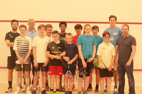 S and B and other local club juniors with Selby and Pilley 2