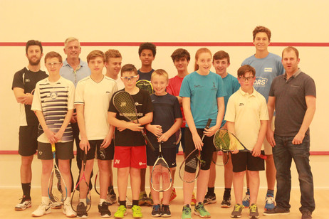 S and B and other local club juniors with Selby and Pilley 1