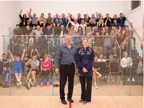 Brian Birch with Laura Massaro at the November 2015 Show Court Opening Ceremony