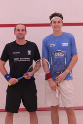 Andy Grove with Cameron Pilley at the  2016 Exhibition Match