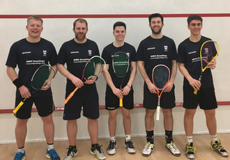 S & B Some of the First Team Squad 28th March 2017 L - R Dave Porter  Matty Sherman  Arron Ken  Daryl Selby  Emyr Evans