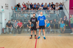 Daryl Selby and James Willstrop during 2018 Exhibition Match