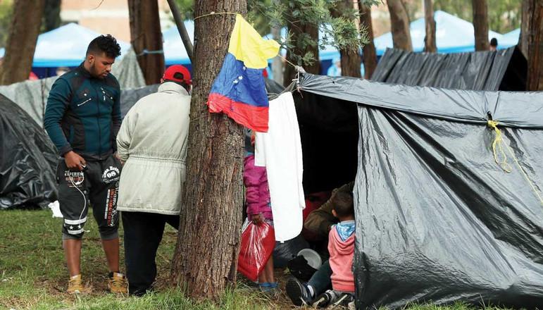 Venezuelan Migrants in Bogota Source: El Tiempo