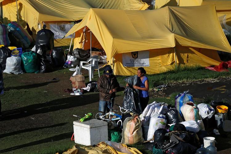 Migrant Camps in Bogota Source: AP