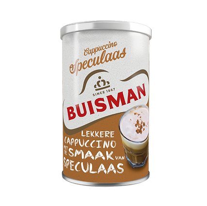 PACKSHOT BUISMAN CAN CAPPUCCINO SPECULAA