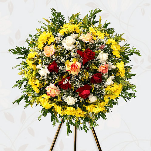Coroa Rosas Coloridas