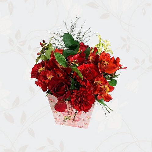Arranjo Pequeno Flores Vermelhas