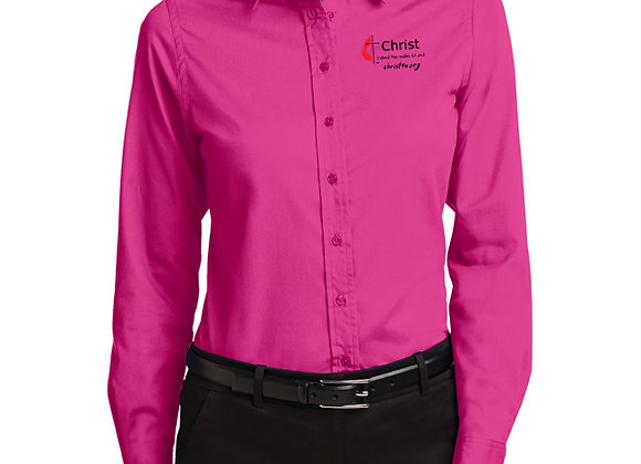 Ladies Long Sleeve Easy Care Shirt (More Color Options Pictures)