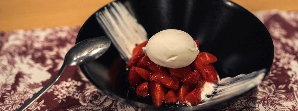 Fresquito de Fresas con Helado de Yogurt