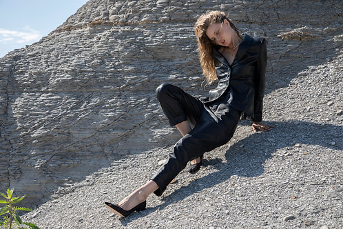 Denise Recycled Leather Trouser - ASbyDF x No More Plastic
