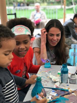 Anouchka Delon and kids