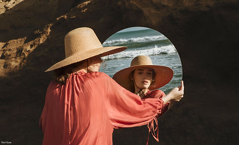 Woman with an ethic summer hat