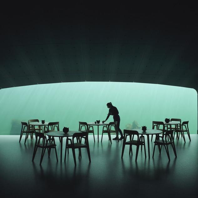 Under, Europe's first underwater restaurant