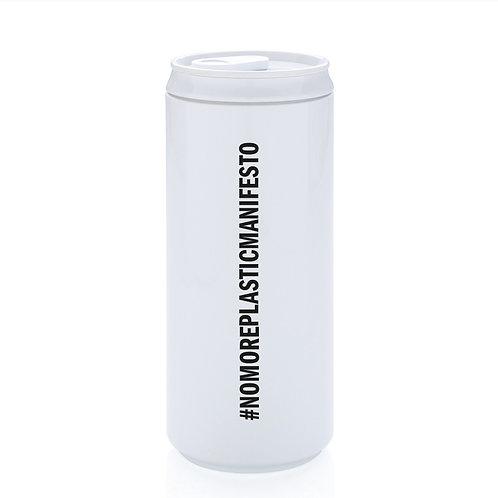 #NoMorePlasticManifesto Reusable can - White