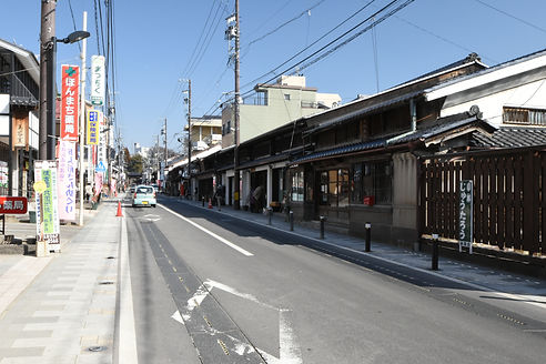 小諸宿に残る江戸の町並み