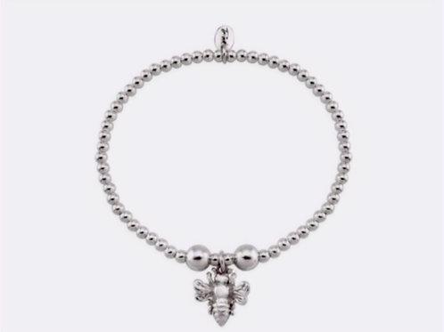 Sterling Silver Bee Charm Bracelet