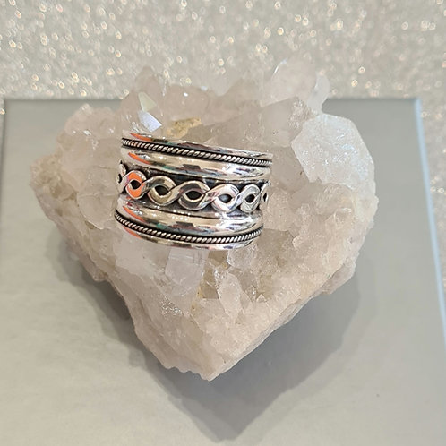 Sterling Silver Oxidised  Band Ring