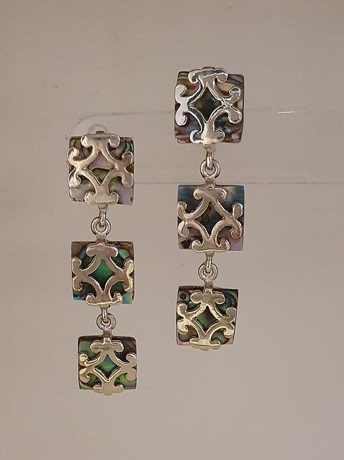 Sterling Silver & Abalone Drop Earrings