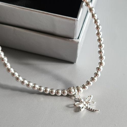 Sterling Silver Dragonfly Bracelet