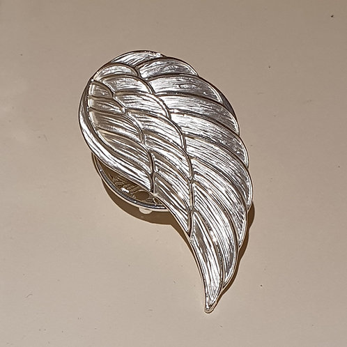 Angel Wing Magnetic Clasp Brooch-Silver