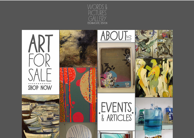 Words & Pictures Gallery Website ready!!!!!