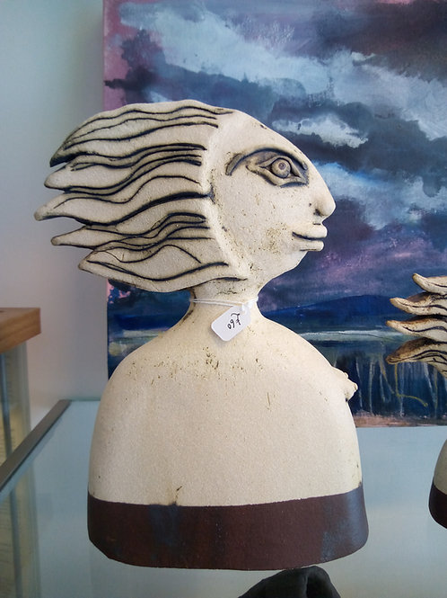 Wave Haired Woman by Tina Hill-Art