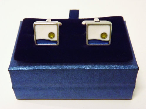 KOA - Pewter and resin cuff-links