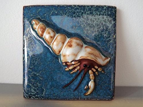 Ann-Mari Hopkin, 'Hermit Crab' Ceramic Tile - 10 x 10cm
