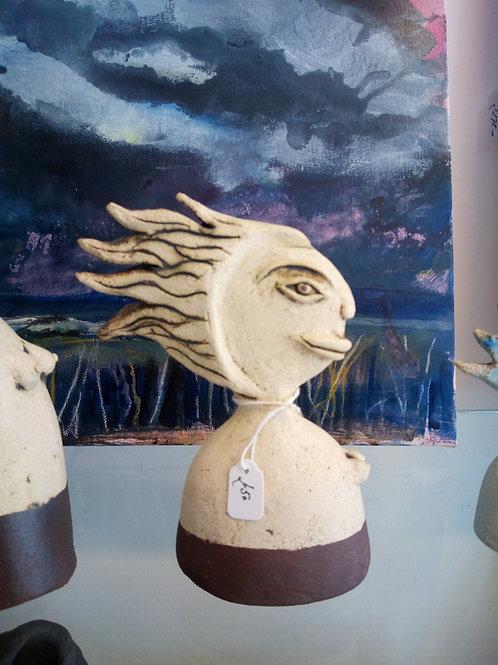 16cm Wave Haired Woman by Tina Hill-Art
