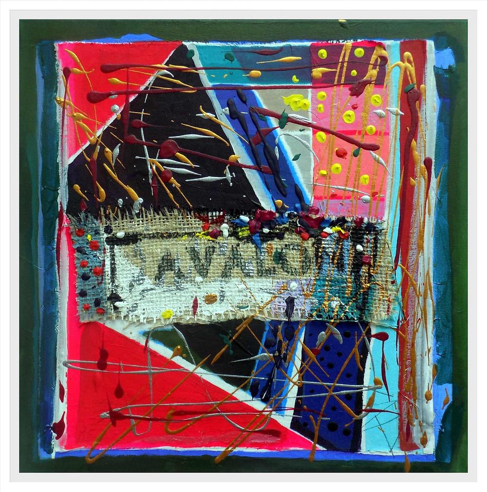 F G Davis mixed media painting 'Avalon'