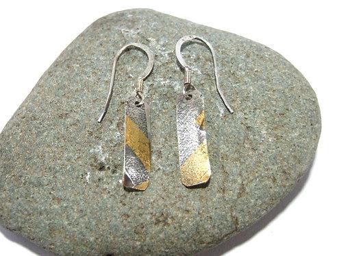 Keum Boo - fine Silver Drop Earrings by Sue Jones (SJ972)